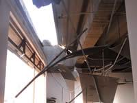 Un accidente provocó ruptura del techo de la Casa de la Cultura