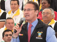 Obras por 130 mil millones de pesos le pide el alcalde Nemocón al presidente Santos
