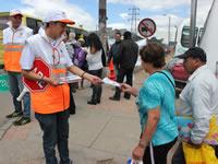 Campaña de prevención vial busca sensibilizar a los peatones
