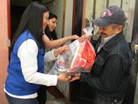 Nueva entrega de alimentos  por parte del municipio
