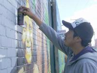 """Joven artista soachuno busca  reconocimiento en concurso de """"Street Art"""""""