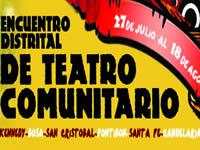 Hasta el 18 de agosto habrá festival de teatro comunitario