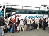 Incrementa salida de viajeros en la Terminal de buses