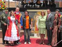 Soacha y Sibaté rindieron homenaje al 'colombiano de todos los tiempos'