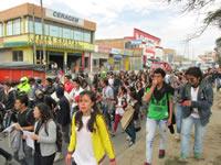 Estudiantes de Soacha marcharon por los campesinos de Colombia
