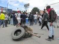 Protestas y enfrentamientos en registro visual
