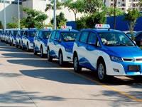 Hoy empezarán a rodar taxis eléctricos en las calles capitalinas