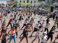 Concurso y maratón de aeróbicos en Soacha