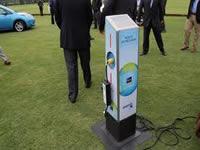 Electrolineras,  'bolardos' para cargar vehículos eléctricos