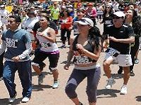 Masiva participación en maratón de aeróbicos