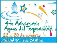 Cuarto aniversario de Aguas del Tequendama S.A. E.S.P