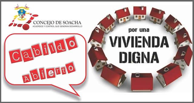 Hoy es el  Cabildo abierto por el derecho a una  vivienda digna en Soacha