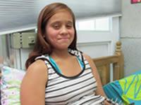 La niña que 'renació' en Altos de la Florida