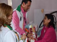 Chía continúa entregando apoyo alimentario