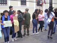 Gestores de paz se tomaron el parque principal de Soacha
