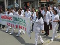 Soacha no fue ajena a la marcha por la salud