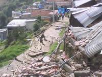 Avalancha en La Capilla dejó más de diez familias evacuadas