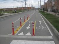 Implementan nuevo bicicarril en Bosa