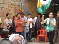 Después de año y medio, líderes comunales de Olivos I se reúnen con su comunidad