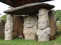 Estatuas de San Agustín celebran centenario en Bogotá