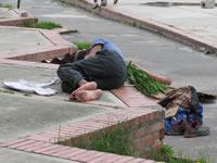 Habitantes de la calle invadieron el barrio La Despensa