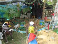 Con pesebre ecológico,  comunidad de Quintas de Santa Ana espera la llegada del 2014