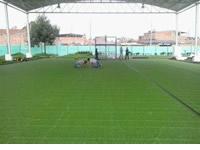 Sibaté empieza a instalar piso sintético a escenarios deportivos