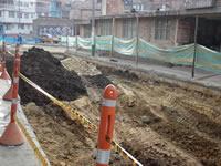 Denuncian inconsistencias en obras de pavimentación en el centro de Soacha