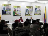 Candidatos de la UP también estuvieron en Soacha