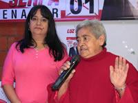 Familiares y amigos cierran  campaña de Luz Marina Velásquez