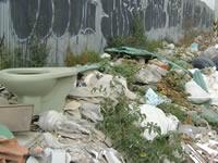 San Mateo está inundado de escombros
