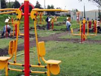 Silvania recibe parques biosaludables