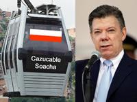 Santos revive la película del Cazucable en Soacha