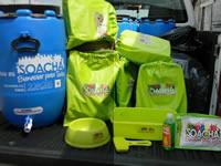 Secretaría de salud  de Soacha entrega kits de aseo y tanques de agua en Altos de La Florida