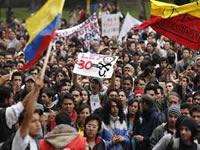 Cada 25 días hay manifestaciones en Colombia
