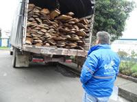 Incautan madera en Zipaquirá