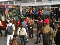 Controlada manifestación de usuarios de Transmilenio en Soacha