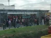 Bloqueos intermitentes se presentan en estaciones Transmilenio Soacha