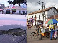 Huecos, droga y ventas ambulantes en el parque principal de Soacha