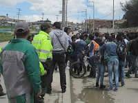 Por panfletos amenazantes  estudiantes de la UDEC  realizaron plantón