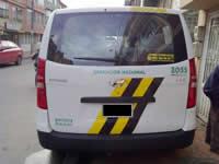 En Soacha inmovilizan vehículo de transporte escolar que llevaba dos pimpinas de ACPM