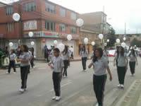 Estudiantes de Soacha realizaron marcha en honor a niños de Fundación