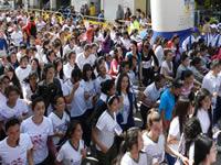Multitudinaria participación  en la Carrera Atlética de la Mujer, Soacha 2014