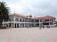 Disturbios en Sibaté causan daños al centro de salud