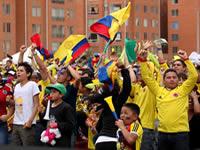 En Ciudad Verde también se celebró el triunfo de Colombia
