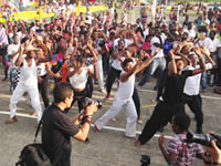 Jóvenes de Soacha participan en  jornada por la paz y reconciliación