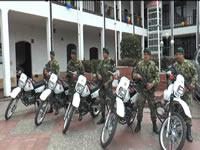 Ejercito Nacional entregó 5 motos para mejorar seguridad en Exposibaté
