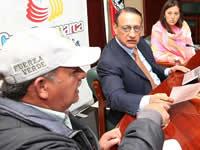 Dignatarios comunales de Soacha se reunieron con el gobernador Álvaro Cruz
