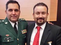 Policía Militar condecora a autoridades de Soacha