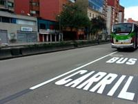 Listo el carril para buses en la Séptima
